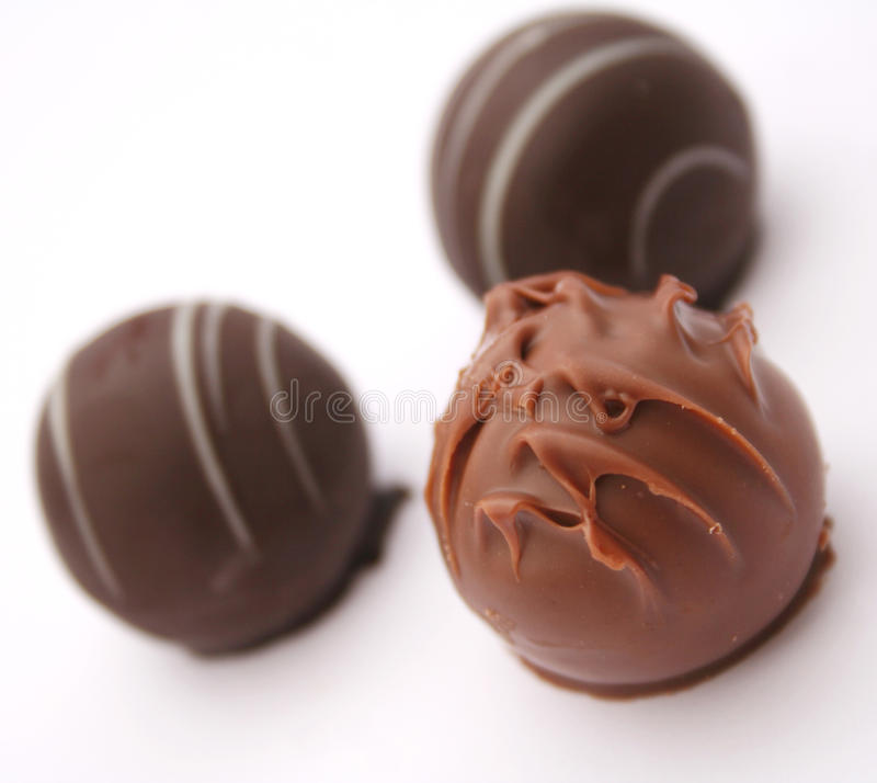 Chocolate. Some chocolate on a white background stock photos