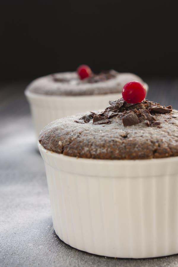 Chocolate souffle royalty free stock photos