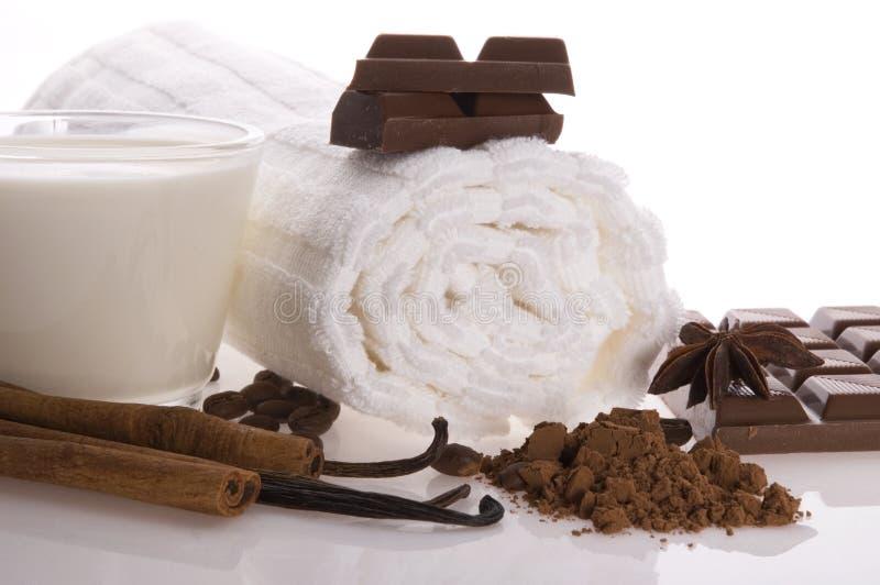 Chocolate spa stock photography
