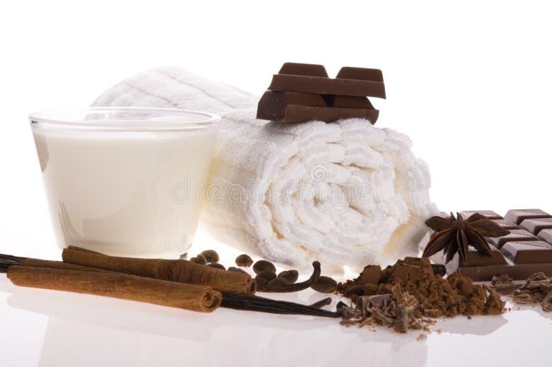 Chocolate spa royalty-vrije stock foto