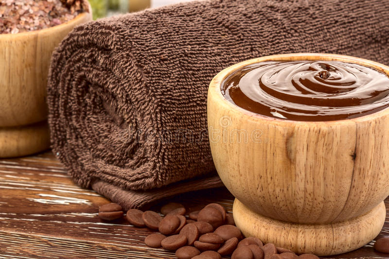 Chocolate spa stock images