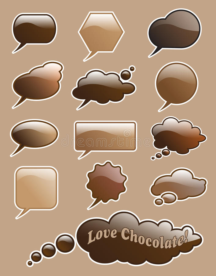 Download Chocolate speech bubbles stock vector. Illustration of background - 22287232