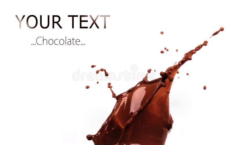 Chocolate splash royalty free stock image