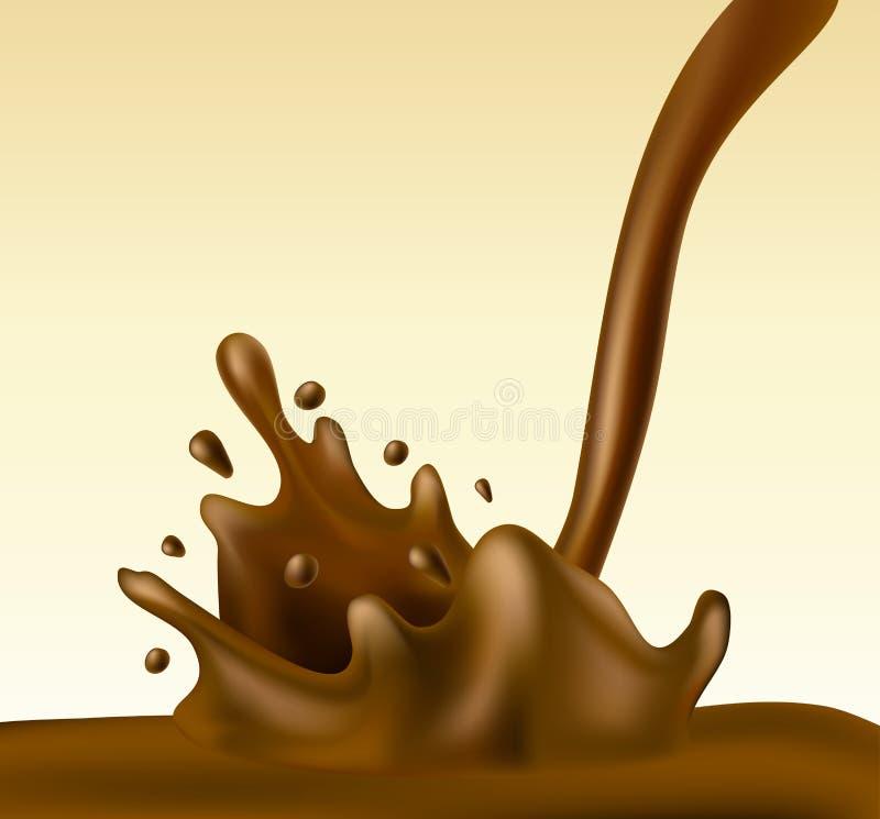 Chocolate splash royalty free illustration