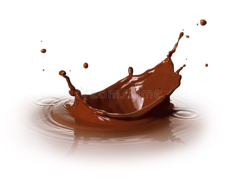 Chocolate splashing royalty free stock image