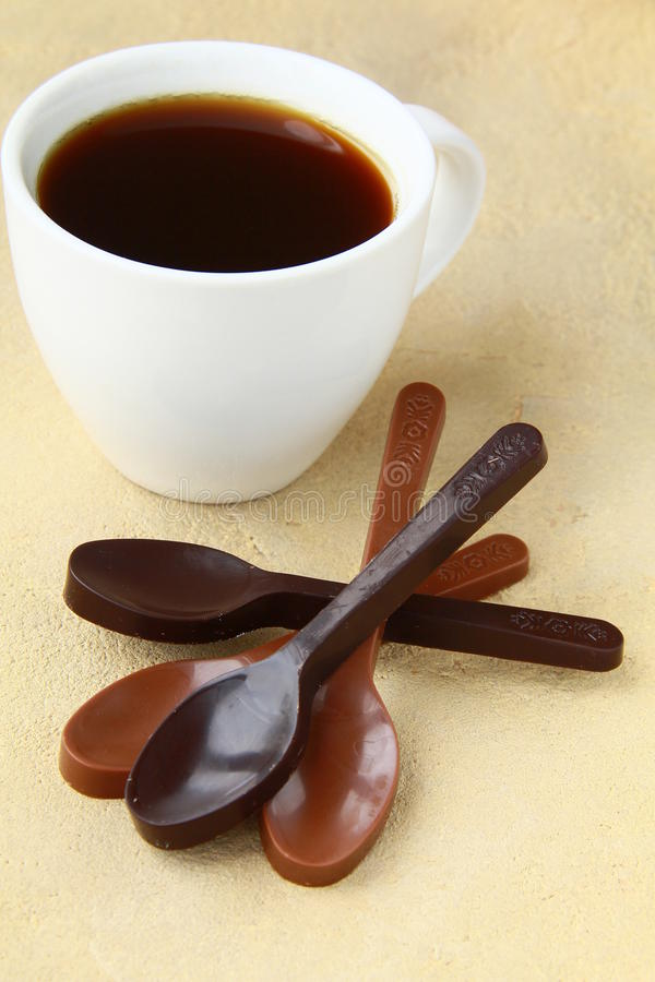 Download Chocolate Spoons Black And Milk Chocolate Royalty Free Stock Photography - Image: 19436617