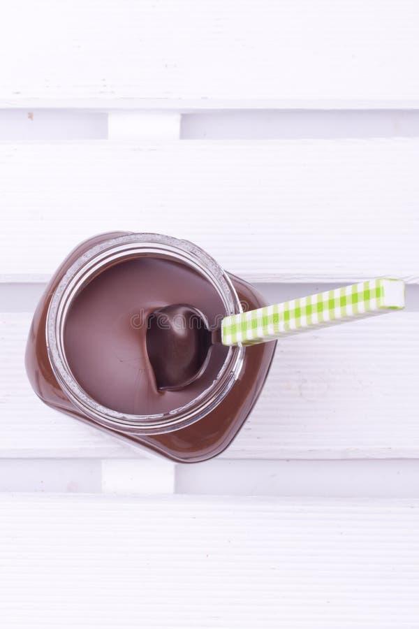Chocolate spread royalty free stock photo