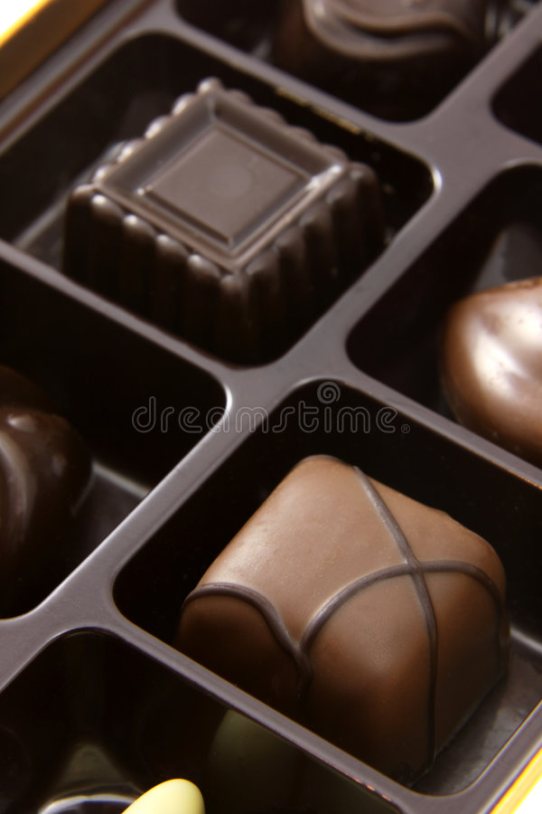Download Chocolate Square Truffles stock image. Image of delightful - 7889739