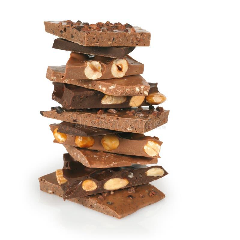 Chocolate stack stock image