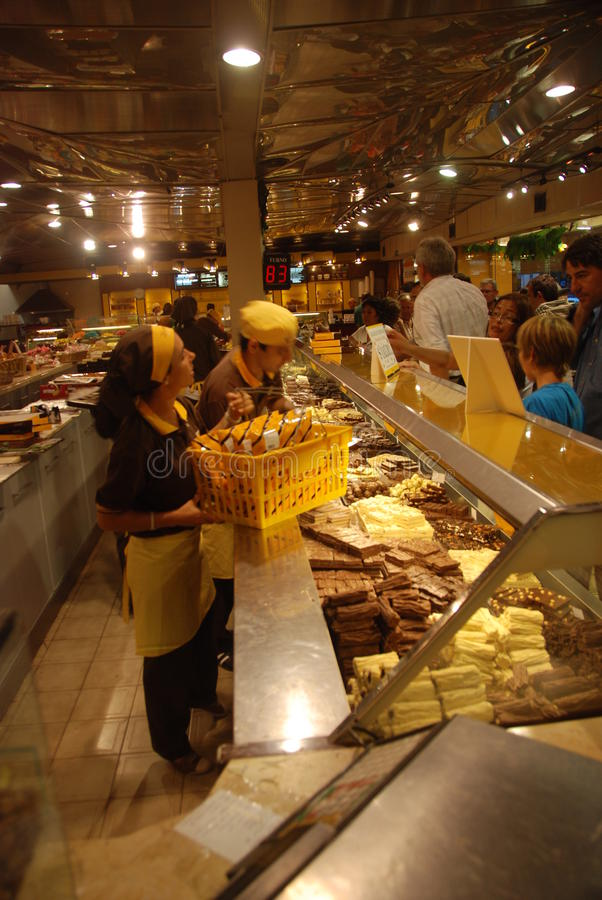 Chocolate store in Argentina stock image