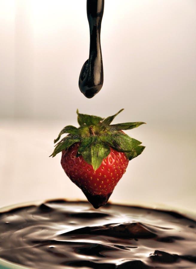 chocolate strawberry 免版税图库摄影