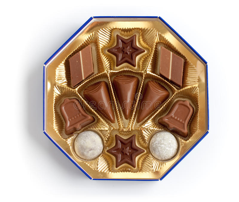 Chocolate sweeties box of different shapes