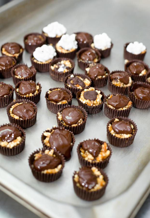 Chocolate sweets according to chefs recipe