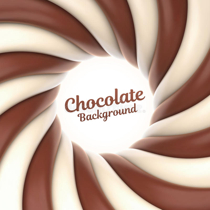 Chocolate swirl background with place for your content stock illustration