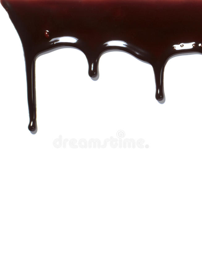 Chocolate Syrup Leaking Liquid Sweet Food Stock Photography