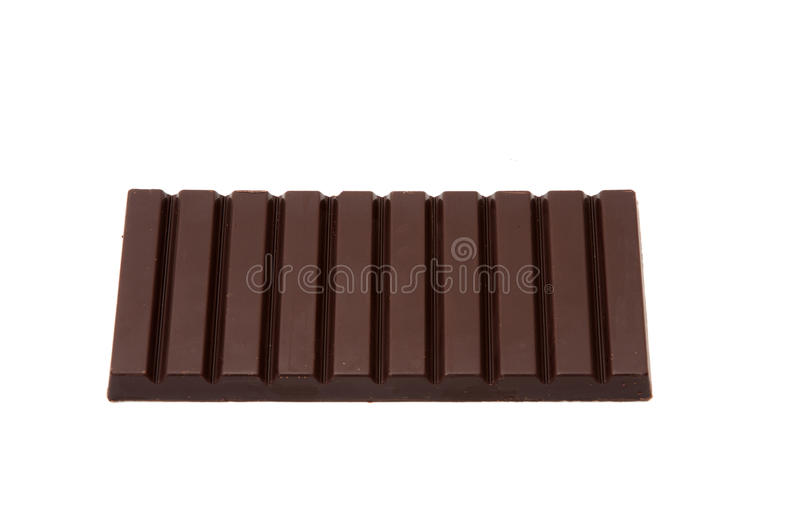 Chocolate tablet. Chocolate bar on a white background stock photo