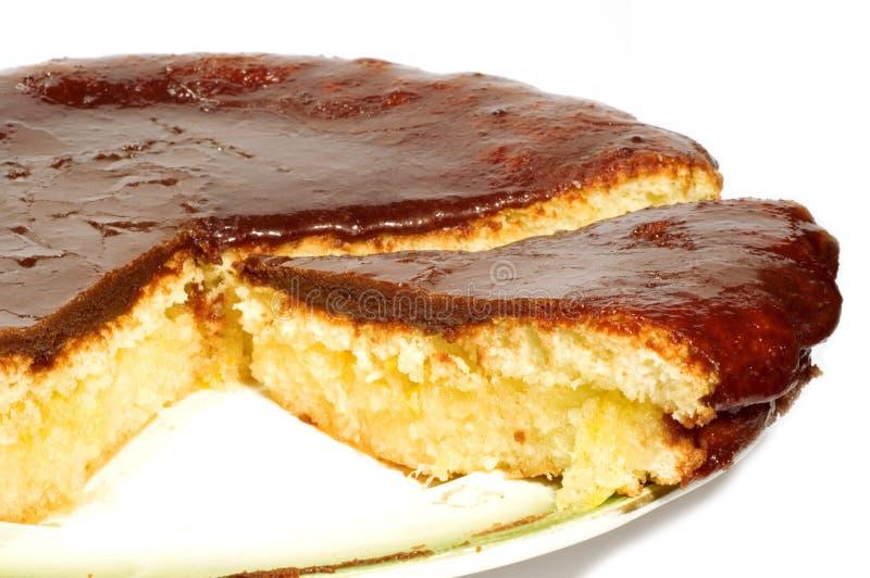 Chocolate tart stock photos