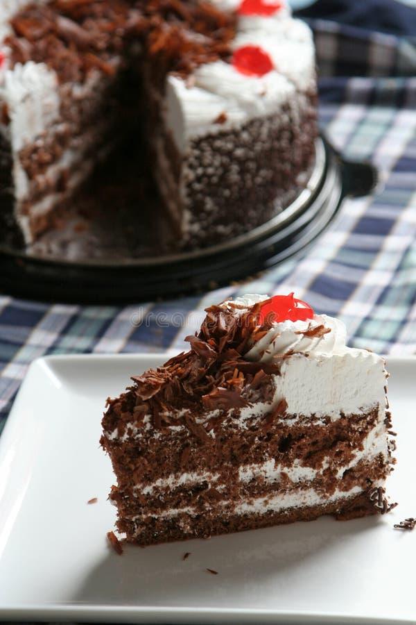 Chocolate tart cake stock image