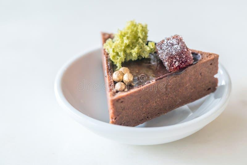 Chocolate Tart royalty free stock image