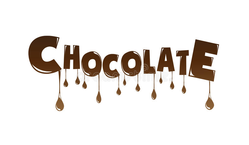 Chocolate text made of chocolate melting vector illustration