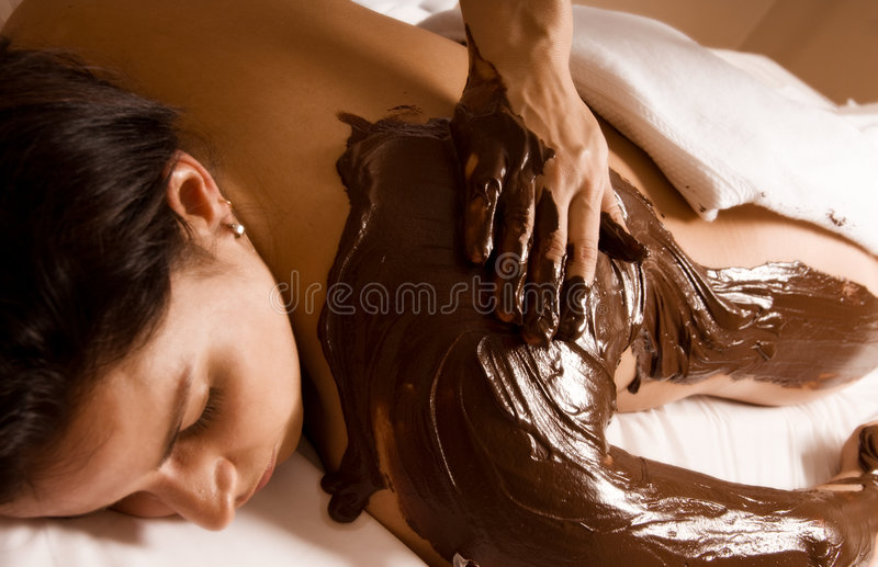 Chocolate treatment royalty free stock photo