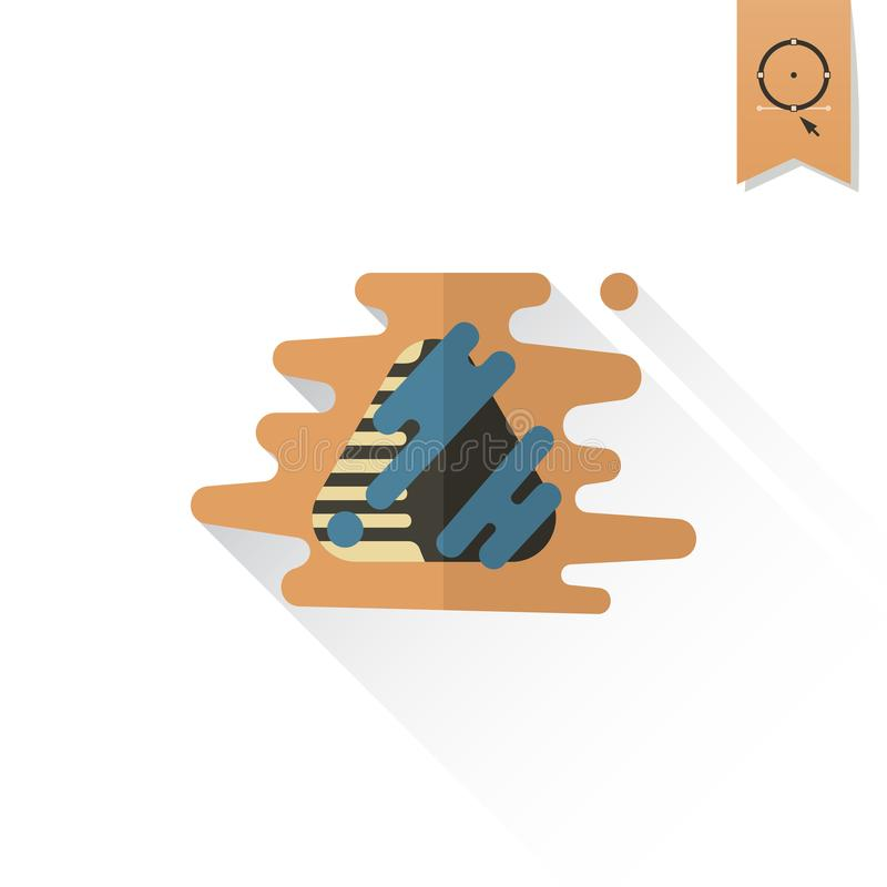 Chocolate Truffle Candy. vector illustration