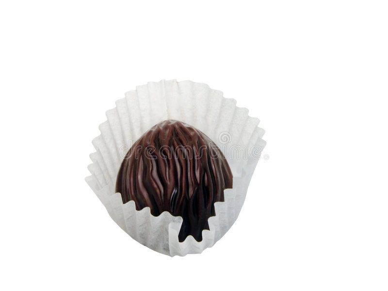 Chocolate truffle-clipping path royalty free stock photos