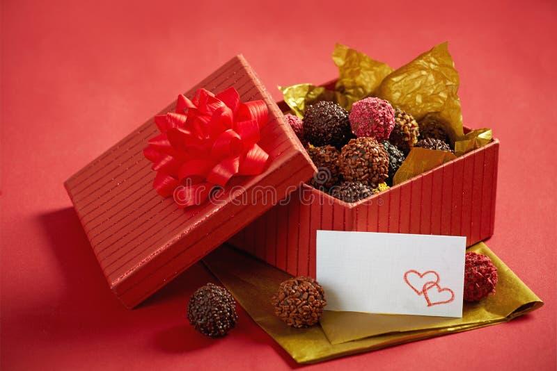 Chocolate truffles stock photos