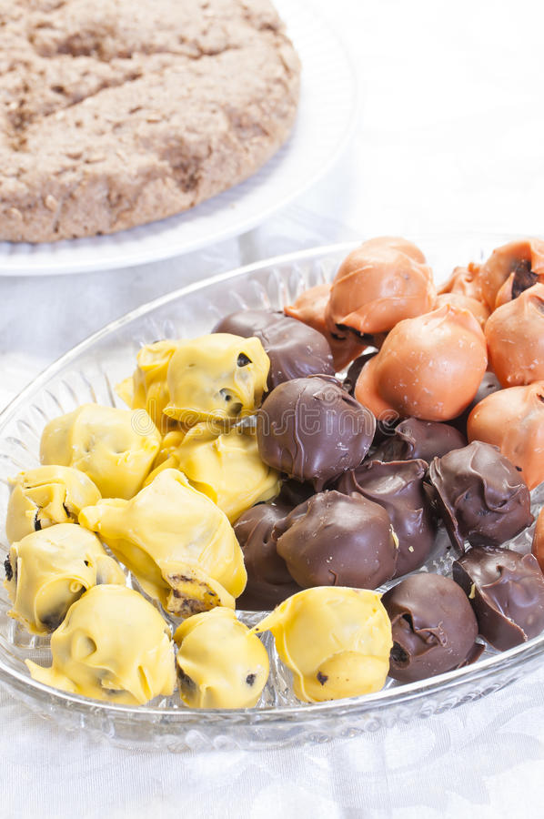 Download Chocolate truffles dessert stock photo. Image of yellow - 35603678
