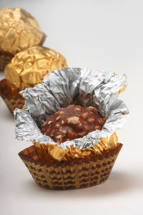 Download Chocolate Truffles In Foil Wrap Stock Photo - Image: 4752468