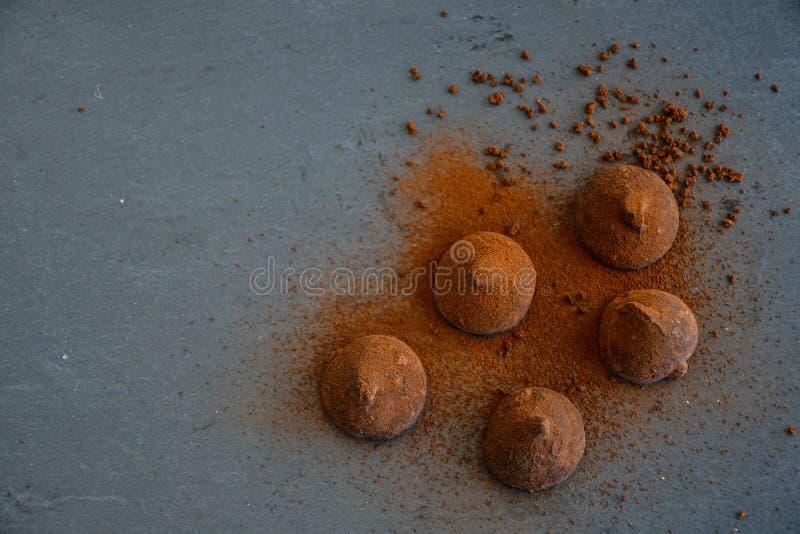 Cocoa truffles royalty free stock photography