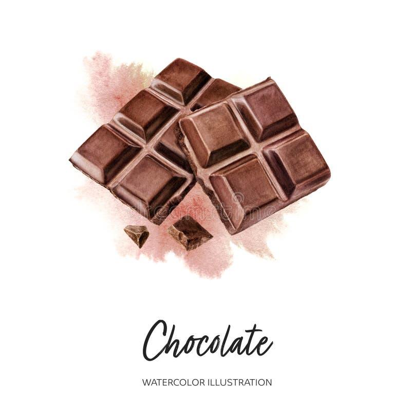 Free Chocolate Watercolor Illustration Isolated On Splash Background Royalty Free Stock Photography - 217200897