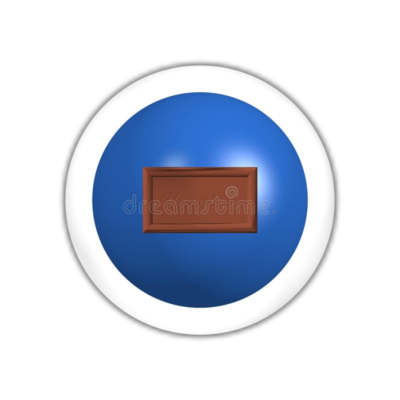 Chocolate Web Button Stock Photography