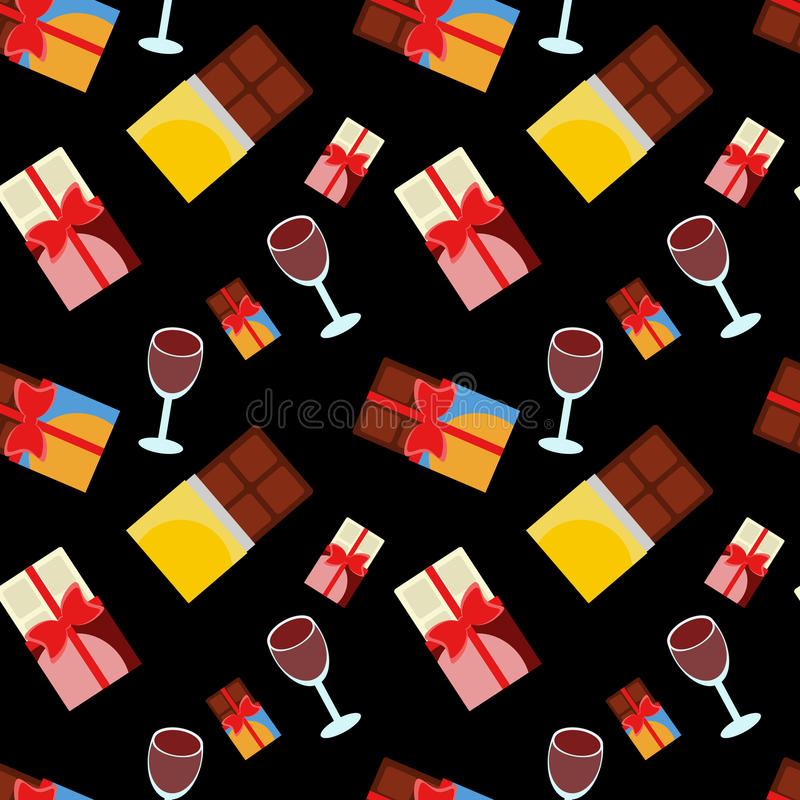 Chocolate and wine stock image