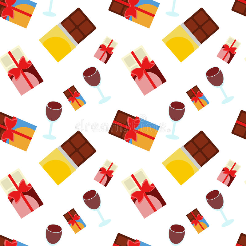 Chocolate and wine stock images