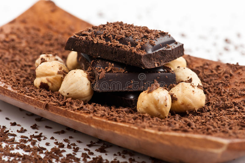 Chocolate y cacahuetes 3 imagenes de archivo