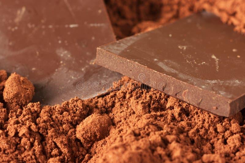 Chocolate y cacao imágenes de archivo libres de regalías