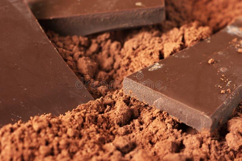 Chocolate y cacao foto de archivo