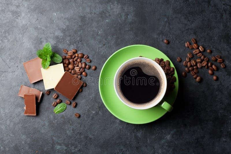 Chocolate y café fotografía de archivo