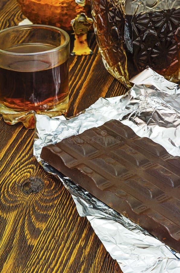 Chocolate y coñac imagen de archivo