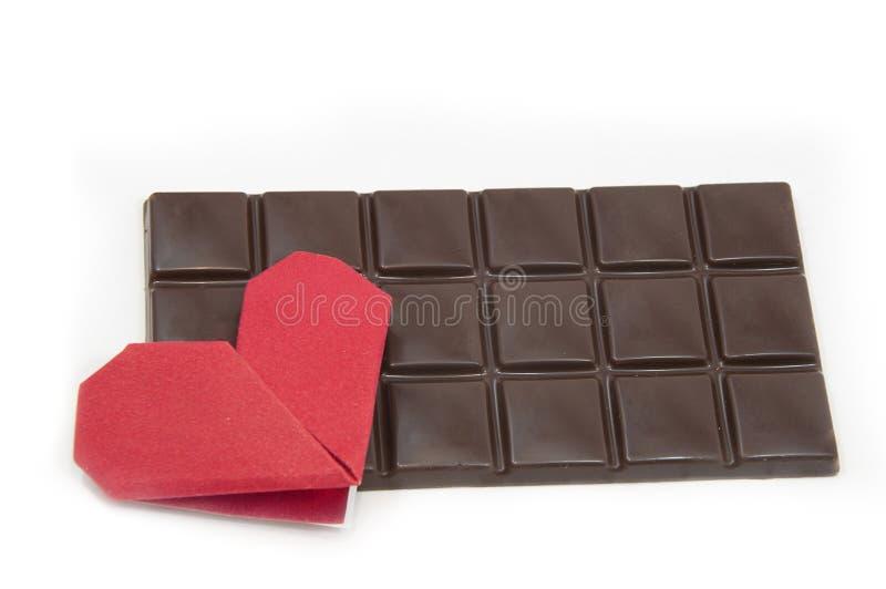 Chocolate y corazones imagenes de archivo