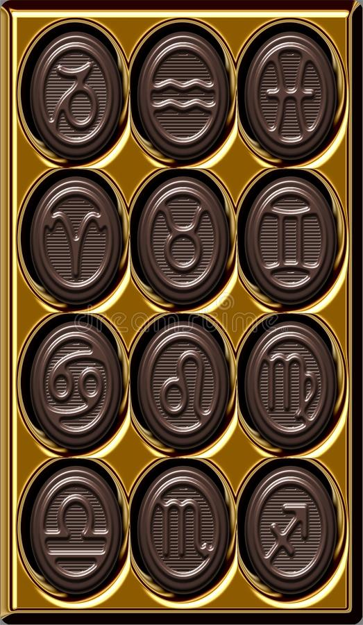 Download Chocolate Zodiac stock illustration. Illustration of astrological - 22782379
