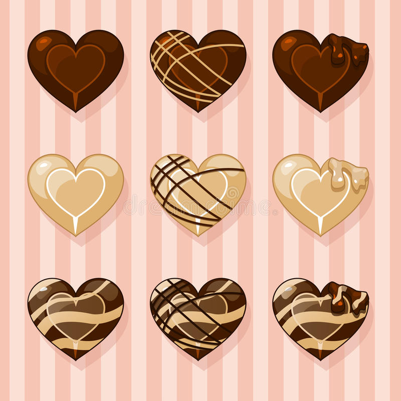 chocolates stock de ilustración