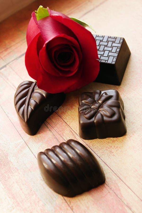 Free Chocolates And Rose Royalty Free Stock Photos - 2070388