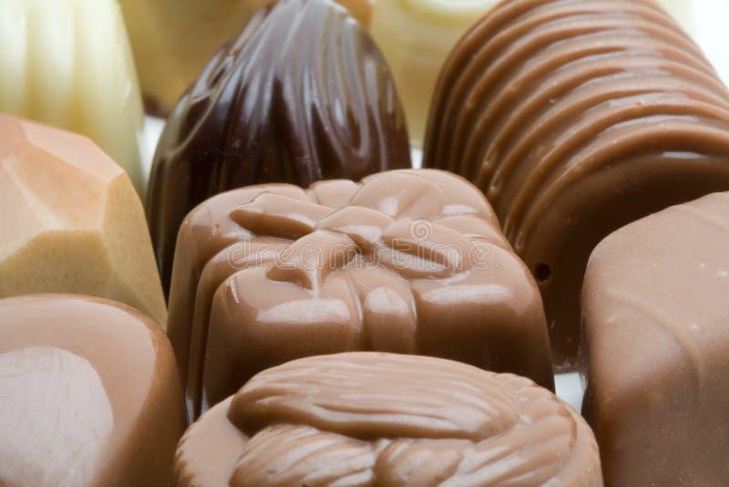 Chocolates belgas imagem de stock royalty free