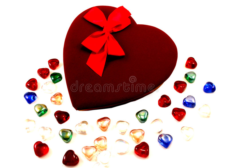 Chocolates de la tarjeta del día de San Valentín imagen de archivo libre de regalías