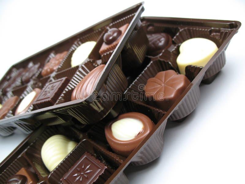 Chocolates deliciosos imágenes de archivo libres de regalías