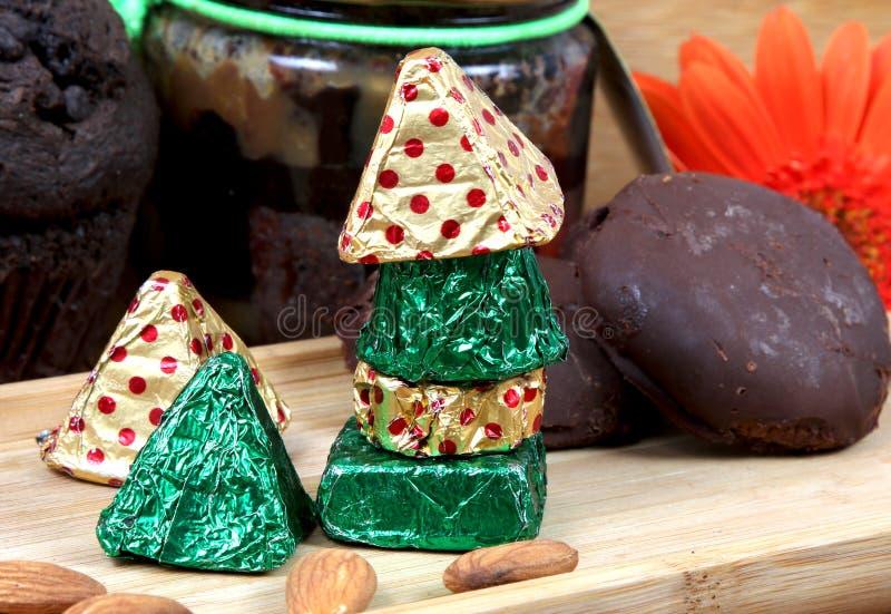 Chocolates hechos a mano fotos de archivo libres de regalías