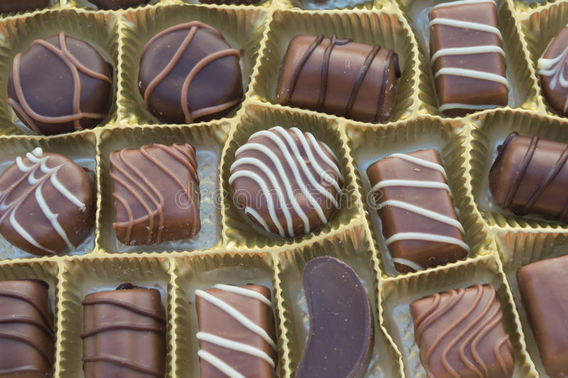 Chocolates. Image of the various kinds of candies stock photography