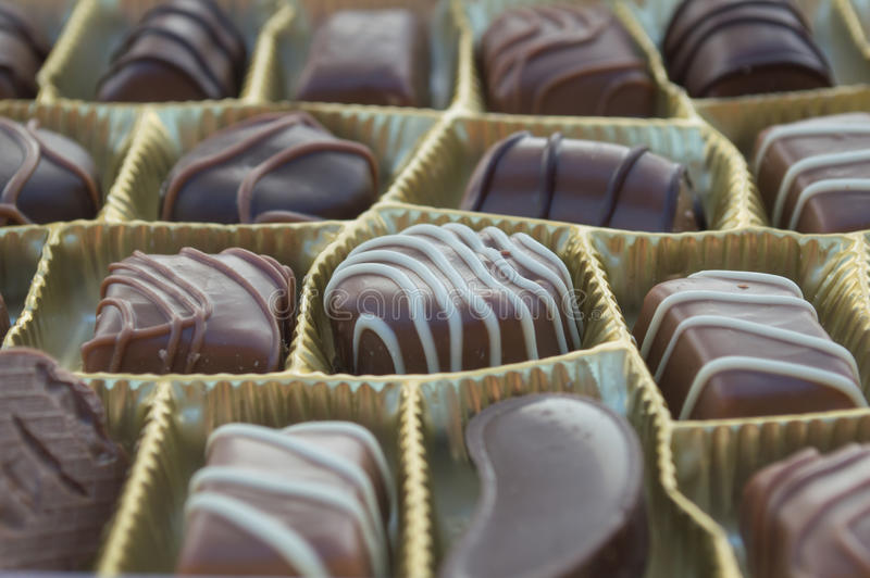 Chocolates. Image of the various kinds of candies royalty free stock images